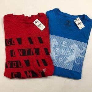 Lot of 2: express short sleeve tops